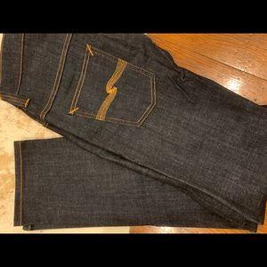 Nudie raw denim high waisted skinny jeans